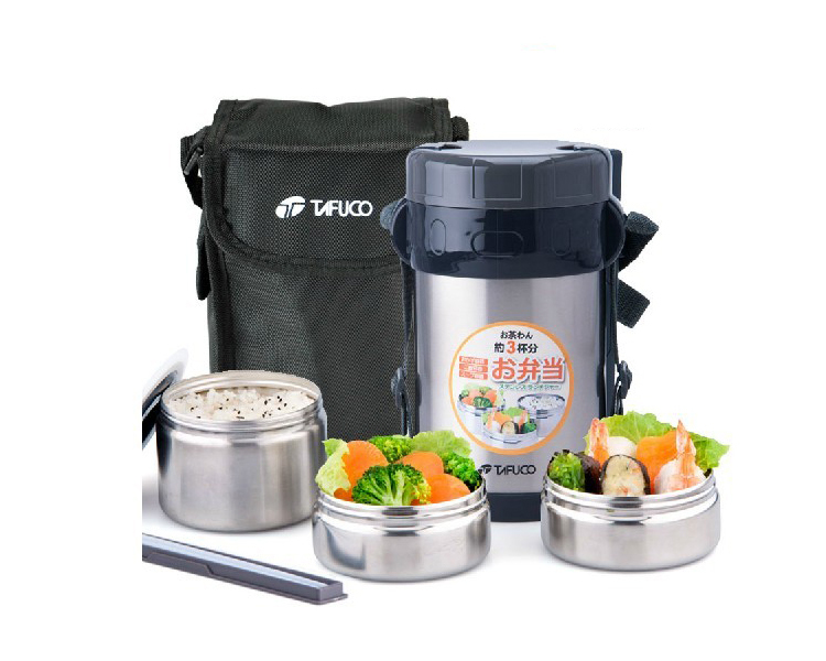 Stainless steel japanese thermos lunch box w insulated for Bento lunch box isotherme