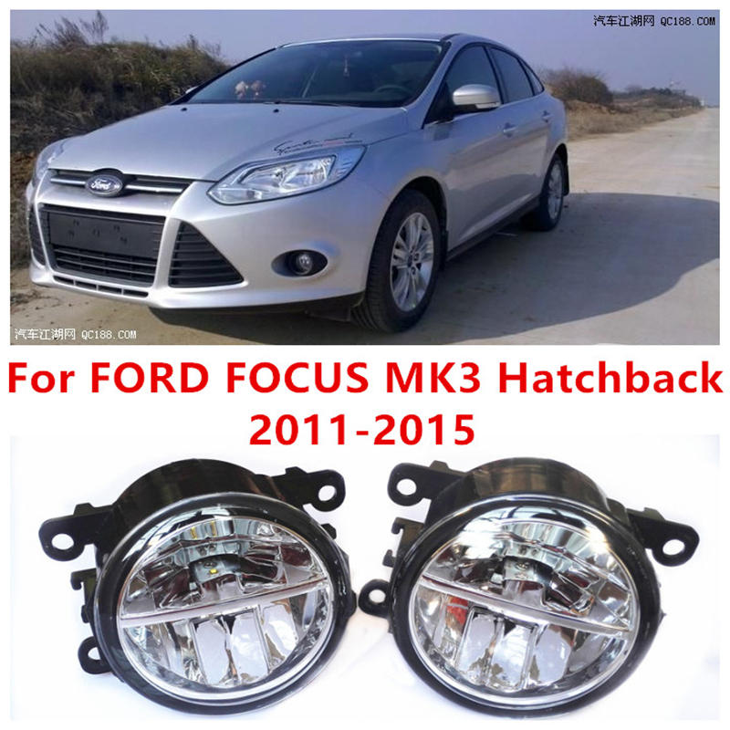 For FORD FOCUS MK3 Hatchback  2011-2015 Fog Lamps LED Car Styling 10W Yellow White lights