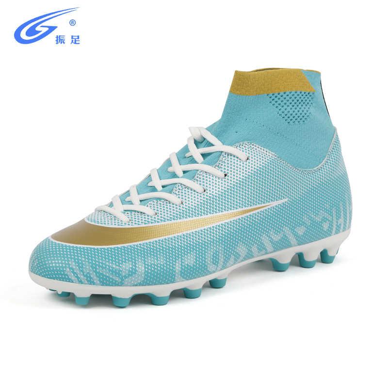 b5ed27836 Outdoor High Top Adult Soccer shoes men boy futzalki centipede Long Spikes  children boots for football