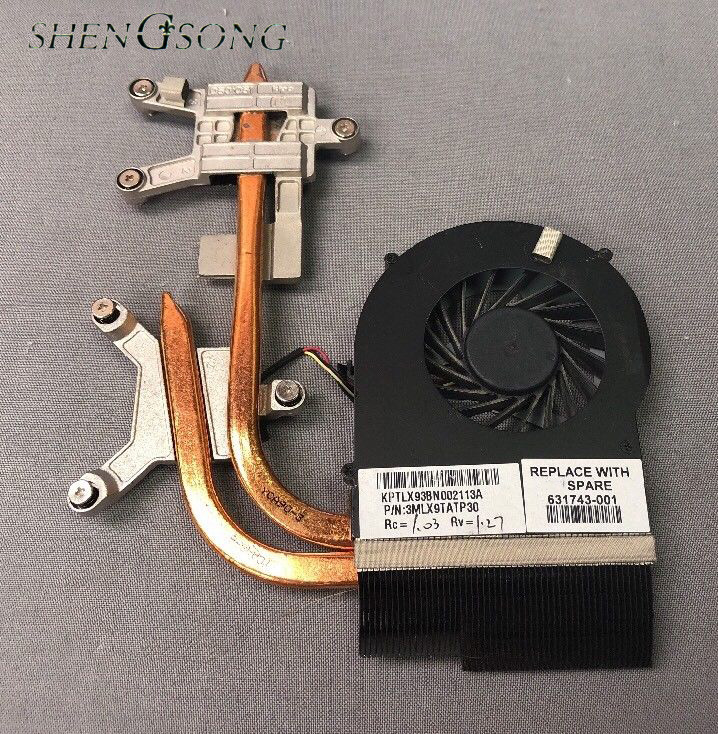Free Shipping Cooler for HP pavilion DV6-3000 DV7-4000 DV6 DV7 laptop cooling heatsink with fan 631743-001 610777-001 610778-001 580974 001 for hp pavilion dv7 dv7t dv7 3000 laptop motherboard tested working