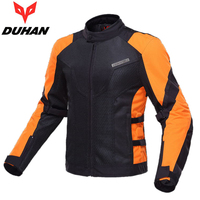 DUHAN Summer Men Motorcycle Touring Racing Jacket Coat Breathable Mesh Cloth Motocross Off Road Motorbike Street Racing Clothing