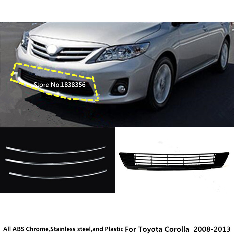 for Toyota Corolla Altis 2008 2009 2010 2011 2012 2013 car body License plate trim racing Grid Grill Grille hood panel frame for toyota corolla altis led tail light 2011 2012 year smoke black color yzv2