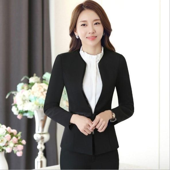 Ladies Slim Fit Trouser Suit Womens Formal Pantsuit Black Blue Grey Blazer and Pant Set Outfit Women Plus Size Pant Suits 4XL