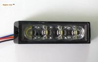 4 3W LED Car Surface Mount Strobe Headlights Grill Warning Lights Emergency Lamp 18 Flash Waterproof