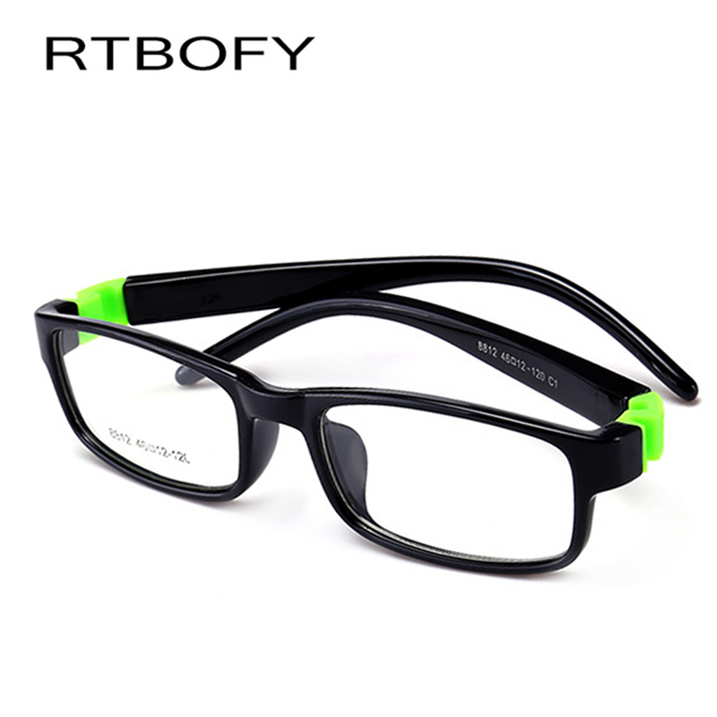 f40e449054 Kids Optical Eyeglasses Size 45mm No Screw Bendable Children Glasses Frame  Teens Glasses TR90   Silicone