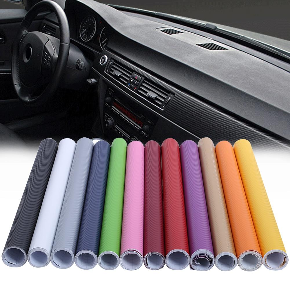 VODOOL 200x50cm 3D Carbon Fiber Vinyl Film High Glossy Warp Motorcycle Car Styling Car Stickers Accessory Waterproof Automobile kettner warp t
