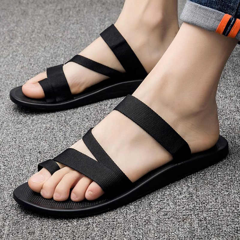 2020f23769dba7 ... 2018 summer men s sandals fashion man flip flop outdoor beach slippers  non-slip male casual ...