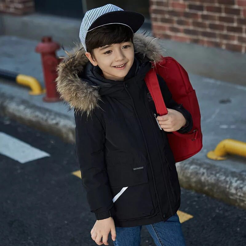 New Winter Boys Coats and Jackets Childrens Down Jacket Boys Winter Medium Length Clothing Girls Coat Warm JacketNew Winter Boys Coats and Jackets Childrens Down Jacket Boys Winter Medium Length Clothing Girls Coat Warm Jacket