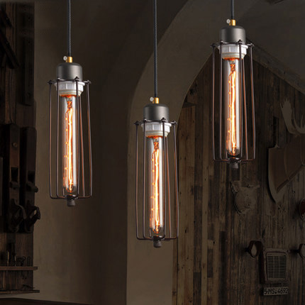 Nordic Industrial Style Pendant Lighting Loft Pendant Lamp Creative Coffee Shop Edison Light Fixtures Bar Art Deco Lighting купить