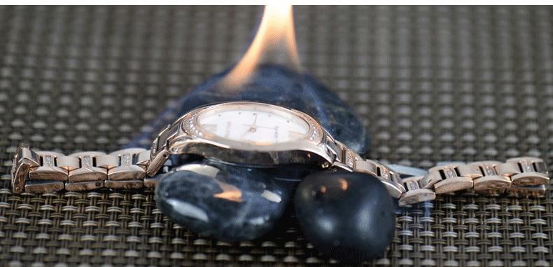 Quartzo Natureza Shell relógio de Pulso de