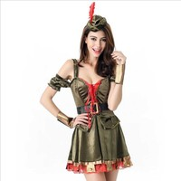 2019 Women Best DIY Soldier Costume Halloween Cosplay Warrior Soldier Costume For Lady Carnival Party Sexy Fancy Dress Outfit