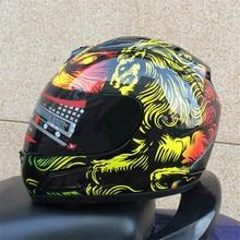 2016 New Arrival Motocross Helmet Gold Lion Knight Racing Helmets Domineering Personality Motorcycle helmet High Quality Casco