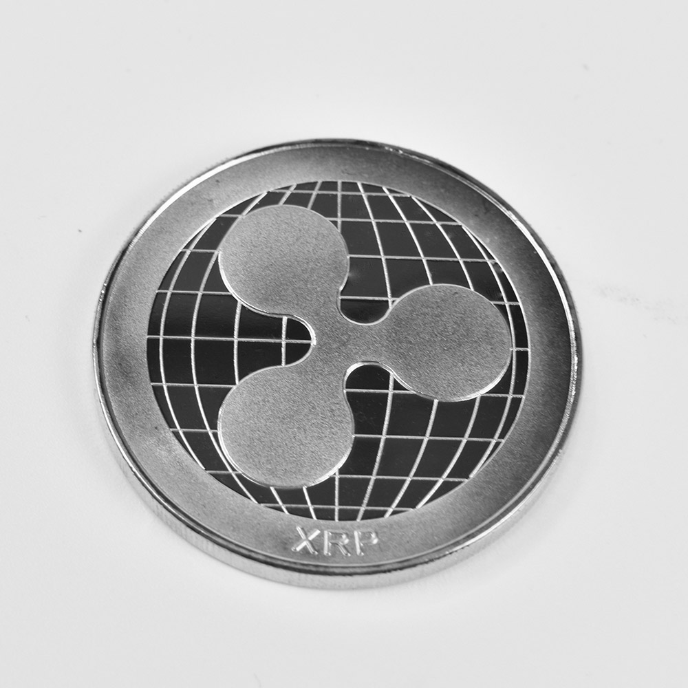 Позолоченные Биткоин Бит монета пульсация Litecoin эфириум коллекция подарок 40 мм криптовалюта монета металлическая памятная монета - Цвет: silver ripple coin