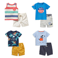 New 2017 Baby Boys Clothing Set Quality 100% Cotton Toddler Kids Clothes Short Sleeve Baby Boy Clothes Set Children Suit Outwear
