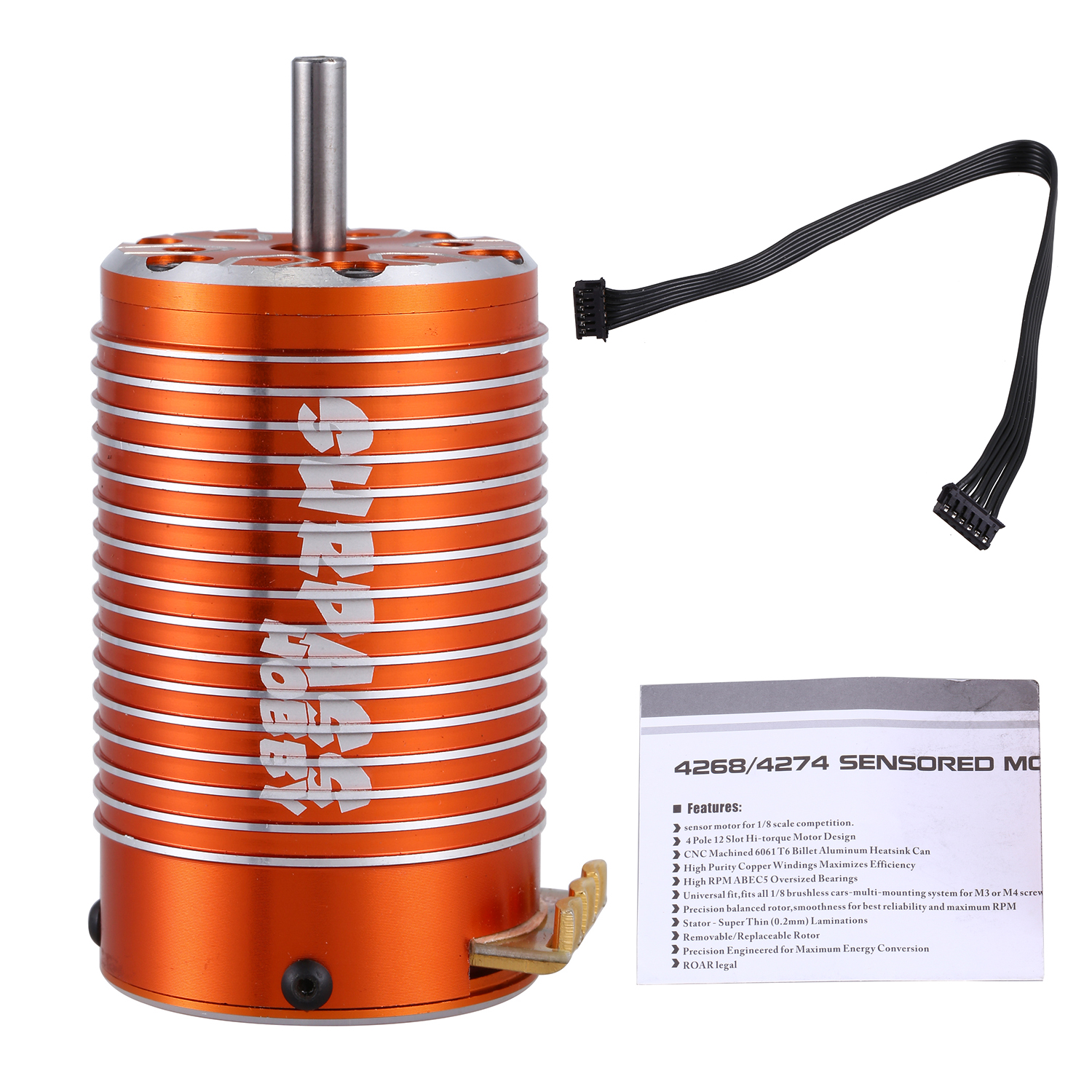 SURPASS HOBBY 4274 2000KV 4 Poles Sensored Brushless Motor for RC 1/8 Truck Bigfoot Car-in Parts & Accessories from Toys & Hobbies    1