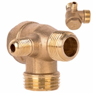 1pc New 3 Port Check Valve Brass Male Thread Check Valve Connector Tool For Air Compressor(China)