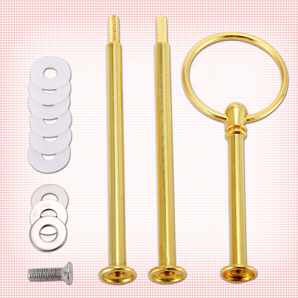 1Sets 3 Tier Mini Circle Ring Top Cake Stand Plate Display Holder Handle Fittings Gold For Wedding Party High Tea HD036-in Cake Decorating Supplies from ...  sc 1 st  AliExpress.com & 1Sets 3 Tier Mini Circle Ring Top Cake Stand Plate Display Holder ...