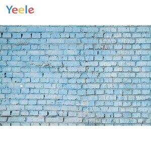 Image 1 - Fondos fotográficos personalizados de pared de ladrillo azul Yeele para sesión de fotos de bebés