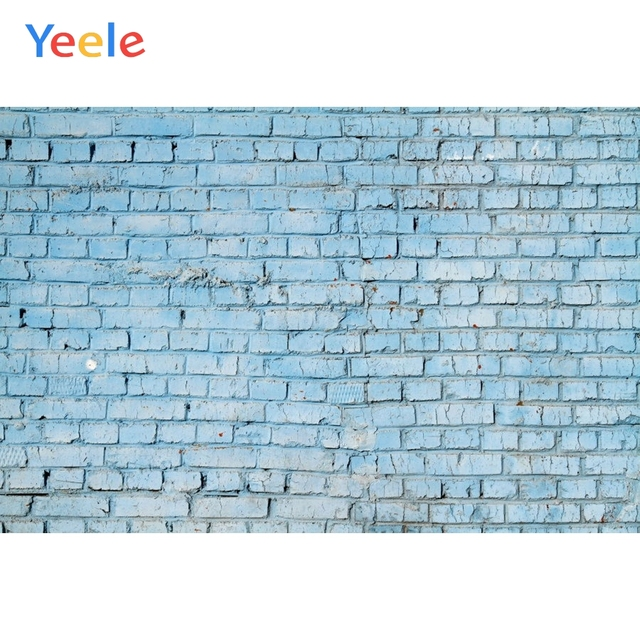 Yeele Blue Brick Wall Baby Personalized Photophone Photographic Backdrops Photography Backgrounds Props For Photo Studio Shoots