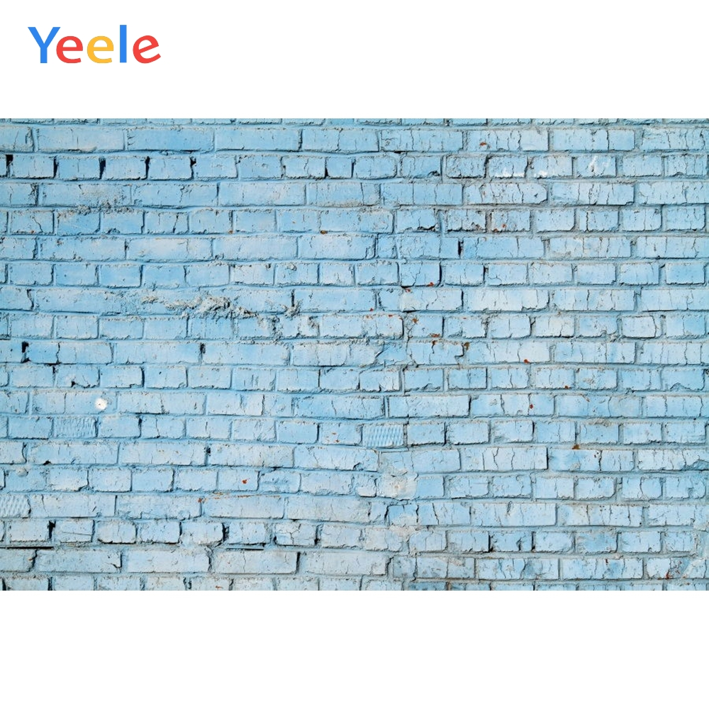 Yeele Simple Blue Brick Wall Personalized Photocol Photographic Backdrops Photography Backgrounds Props For Photo Studio Shoots-in Background from Consumer Electronics