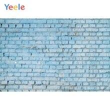 Yeele niebieska ściana z cegły dziecko spersonalizowane Photophone fotograficzne tła fotografia tła rekwizyty do sesji zdjęciowych Studio