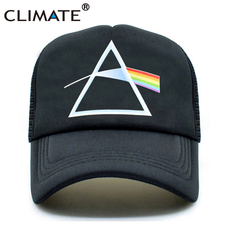 CLIMATE Men Women Pink Floyd Trucker Cap Rock Music Fans Cool Black Caps Summer Rock BandCool Mesh Net Trucker Caps Hat For Men climate men summer black mesh caps star wars bounty hunter fans cool summer baseball cap black net trucker caps hat for men
