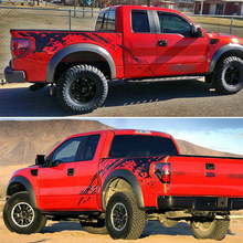 mudslinger body rear tail side graphic vinyl decalsbody decals for Ford FORD F150 RAPTOR 2009 2014