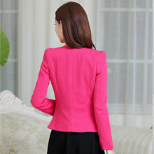 Long Sleeve One Button Suit Ladies Blazer