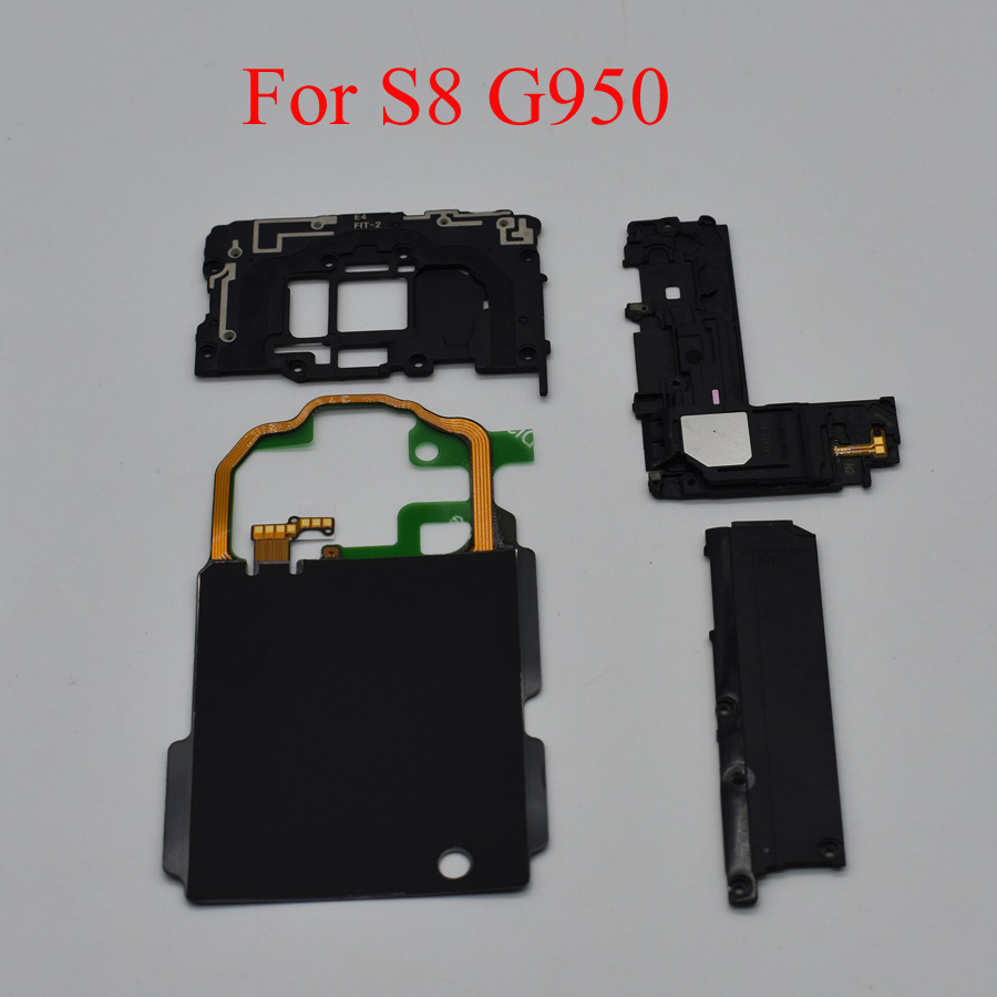 4pcs/set For Samsung Galaxy S7 G930 S7 Edge G935 S8 G950 G955 S9 Plus NFC Wireless Charging + Antenna Panel Cover + Loud Speaker