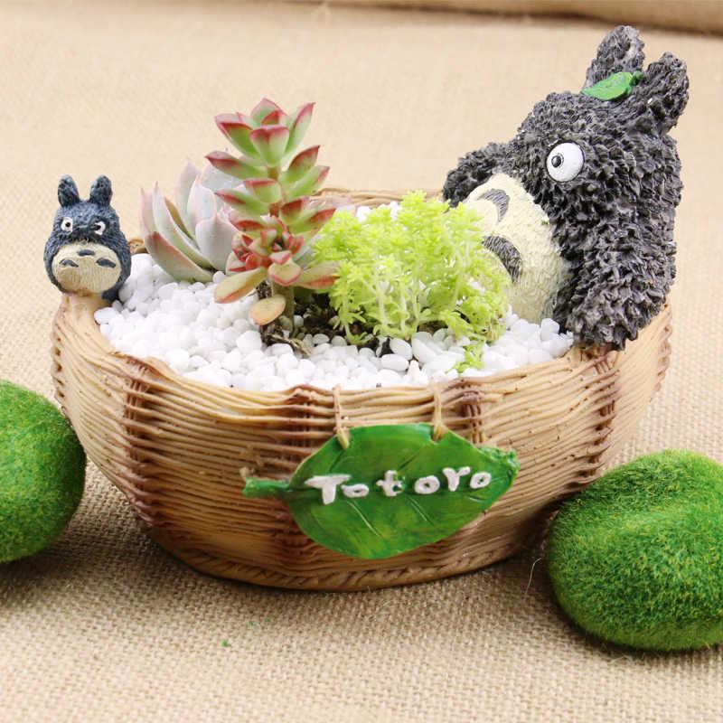 7-Phong Cách Hoạt Hình Dễ Thương Totoro Hoa Nông Trang Trang Trí Nhựa Sáng Tạo Thủ Công Phu Đồn Điền Văn Phòng Nhà Vườn Thực Vật Mọng Nước Nồi