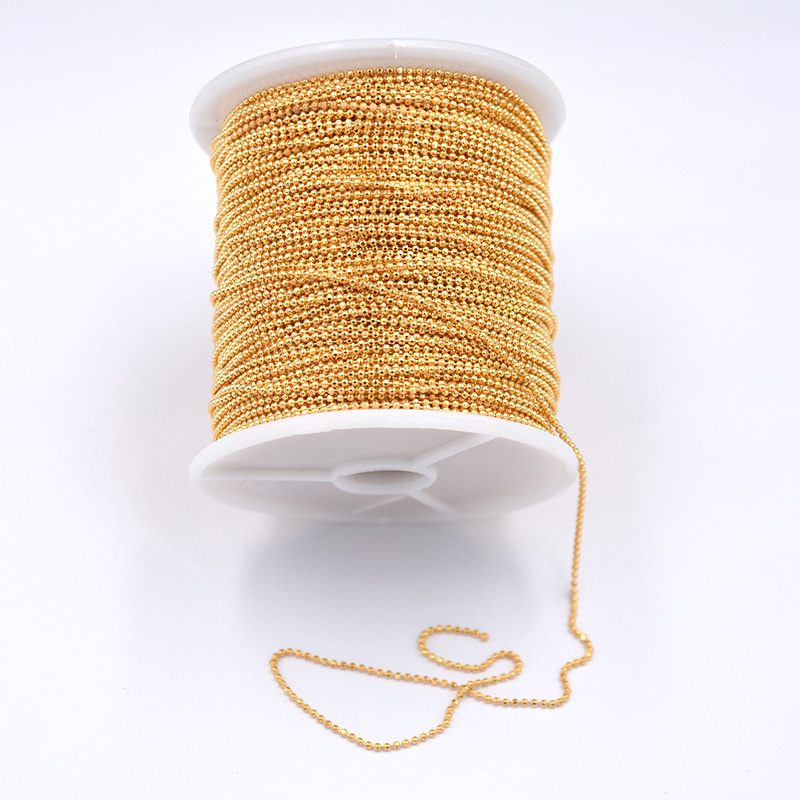 Swagpick Lot 88meter/roll 1.2DC 18 K Gold Stainless Steel Strong Chain Jewelry Finding Marking Chain DIY Nail Art Decorations stainless steel nail art diy plate silver