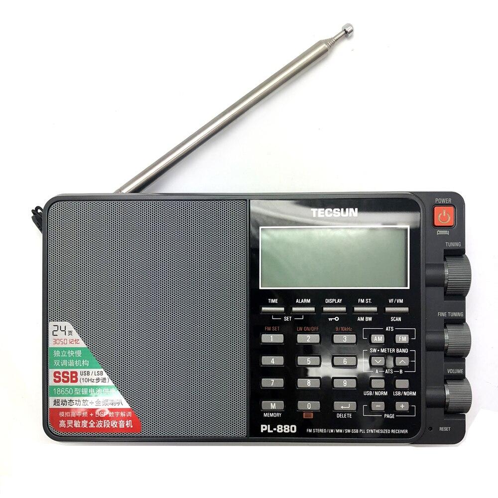Tecsun PL-880 высокая эффективность полный диапазон портативный цифровой тюнинг стерео радио с LW/SW/MW SSB PLL режимы FM (64-108 МГц)