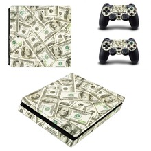 GTA 5 Vinyl Decal PS4 Slim Console Skin Controller Stickers for Playstation 4 PS4 Slim Full Body Cover