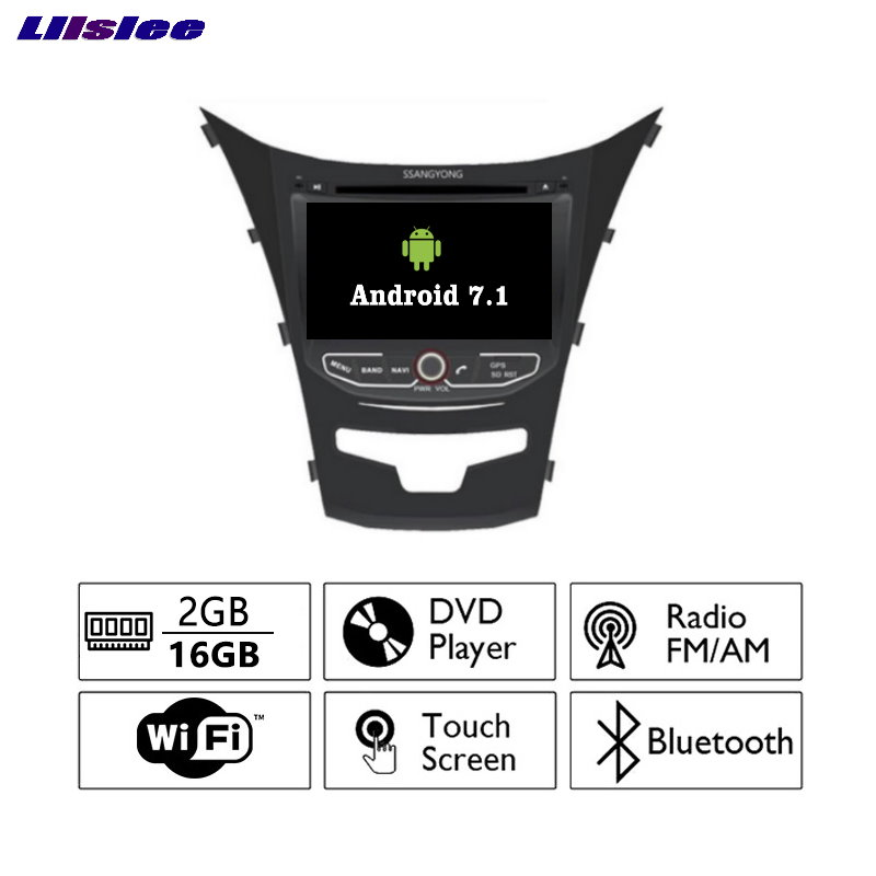 Liislee Android 7.1 2G RAM For SsangYong Korando Car Radio Audio Video Multimedia DVD Player WIFI DVR GPS Navi Navigation image