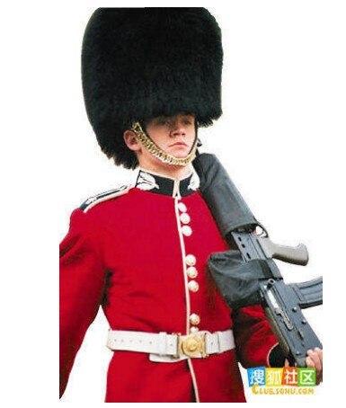 Homme armée soldat uniforme vêtements uniforme militaire garde royale du royaume-uni garde vêtements