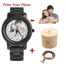 BOBO BIRD Photo Customized on Wood Watch Dial with Bamboo Gi