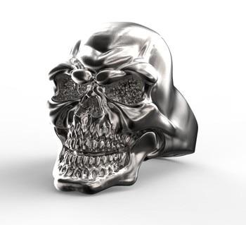 EVBEA Unique Design Bike Style Stainless Steel Skull Ring Punk Design Skulls Rings For Men Fashion Rings pulseira colar e anel masculino