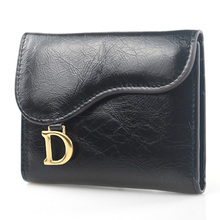 Womens Wallets and Purses Genuine Leather Short Wallet Women Fashion Luxury Brand Solid Hasp Organizer Money Bag New 2019