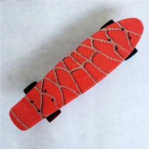 Image 3 - Type Hip hop Retro Mini Cruiser Skateboard Batman Pattern Mini Board Skateboard for Outdoor Sport Street Boys For Child