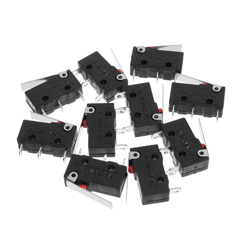10pcs 250V 5A 3 Pin Tact Switch Sensitive Microswitch Micro Switches Handle KW11-3Z quality micro switch v 156 1c25 3 pins with long handle