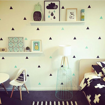 Baby Boy Room Little Triangles Wall Sticker For Kids Decorative Stickers Children Bedroom Nursery Decal 1
