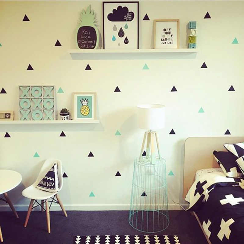 Baby Boy Room Little Triangles Wall Sticker For Kids Room Decorative Stickers Children Bedroom Nursery Wall Decal Stickers