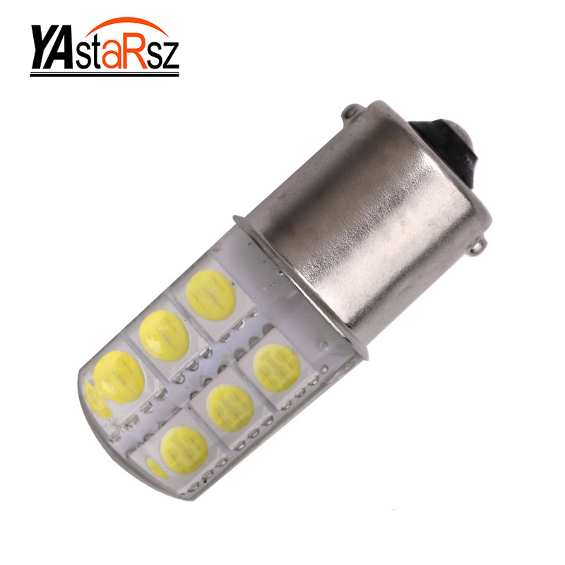 Super Bright 1156 P21W BA15S S25 15 smd LED auto brake light car Backup Reverse Lights Rear Direction Indicator red amber yellow 50w 25 led red