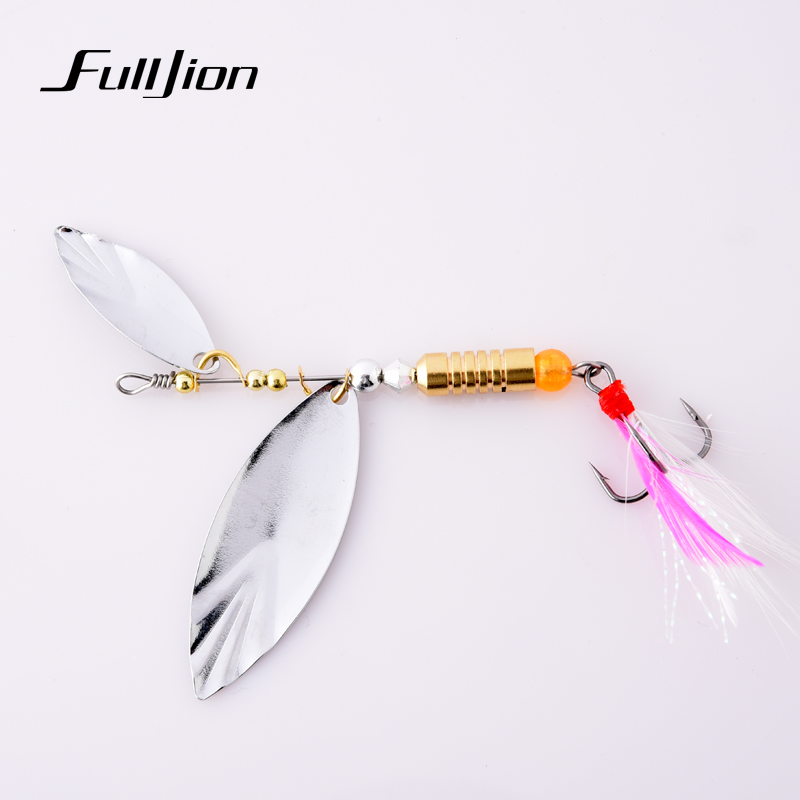 Fishing lures spinner baits metal spoons artificial lures for Spinner fishing lures