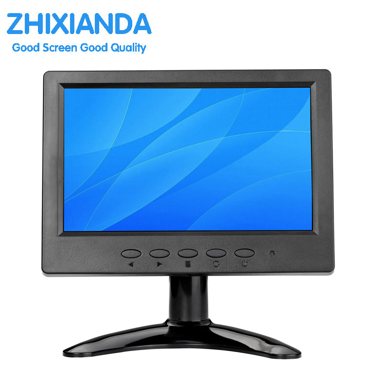 7 inch CCTV LCD Monitor with 1024*600 High Resolution Small Size LCD BNC Monitor IPS LCD Monitor zhixianda kf12 12 inch open frame industrial metal shell lcd monitor 1024 768 standard resolution