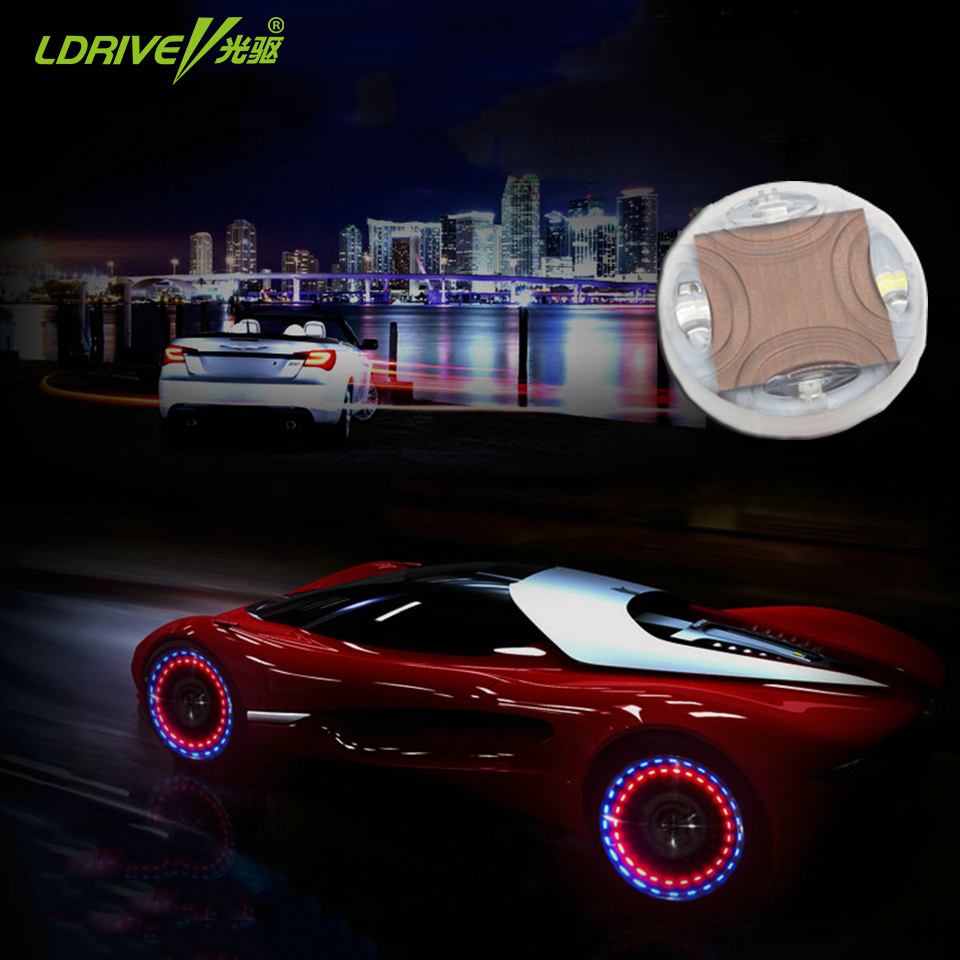 Car Styling LED Auto Solar Energy Flash Wheel Tire Valve Cap Neon Light Lamp Decoration Car Wheel Tire Air Valve Cap Solar Light new 4pcs led neon car bike wheel tire tyre valve dust cap spoke flash lights hot