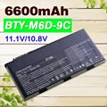 6600mAh  laptop battery BTY-M6D  E6603 For MSI  GT60 GT660  GT660R  GT663  GT663R  GT670   GT680  GT680DX  GT680DXR   GT680R