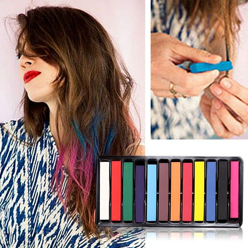 sans alcool facile appliquer ou couleur se laver les cheveux craies pratique temporaire super cheveux - Coloration Cheveux Craie