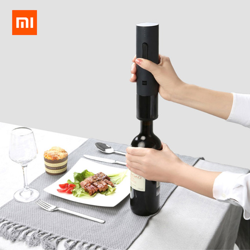 2019 Xiaomi Mijia Huohou Automatic Wine Bottle Opener Electric Corkscrew Foil Cutter Cork Out Tool for Xiaomi Smart Home Kits