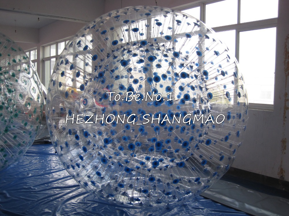 2.6M*1.9M  Inflatable Zorb ball Zorbing Human Hamster ball 1300W Blowers X1 free shipping inflatable water walking ball water rolling ball water balloon zorb ball inflatable human hamster plastic ball